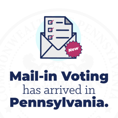 PA now has vote-by-mail!