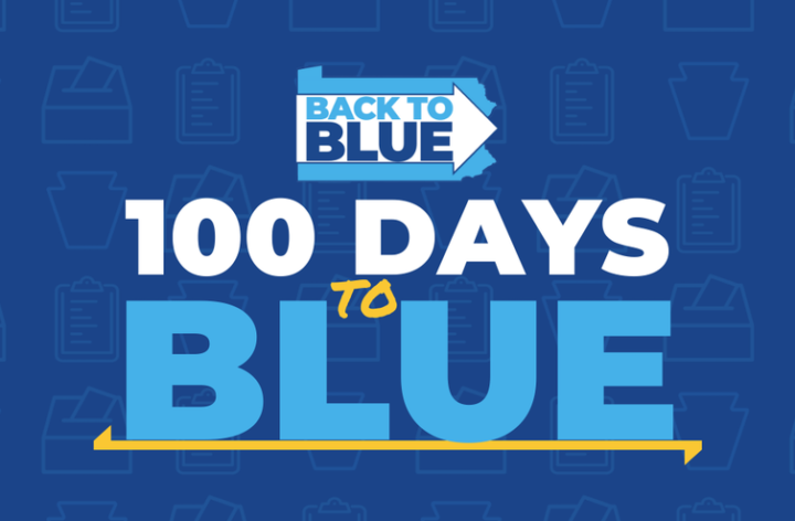 100 days left until we flip PA back to blue!